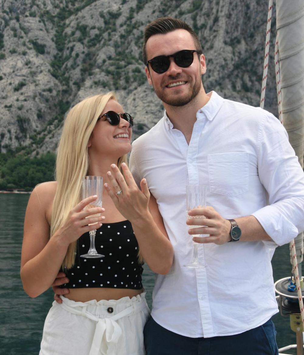 Getting engaged to my best friend in  Perast, Montenegro