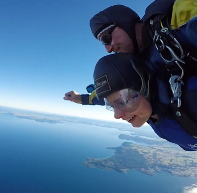 Jumping out of a plane  - Lake Taupo, New Zealand