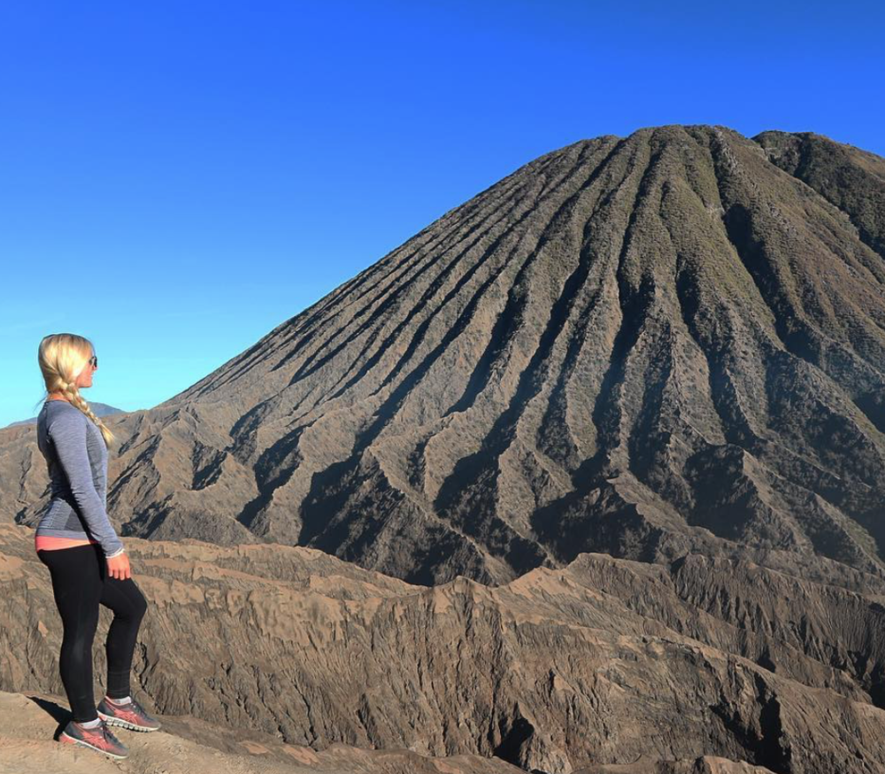 Standing on the edge of a volcano -  Java, Indonesia