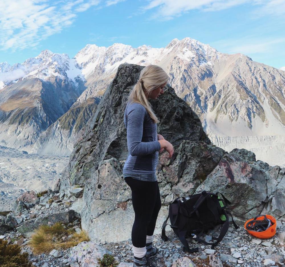 Climbing  Mount Cook, New Zealand