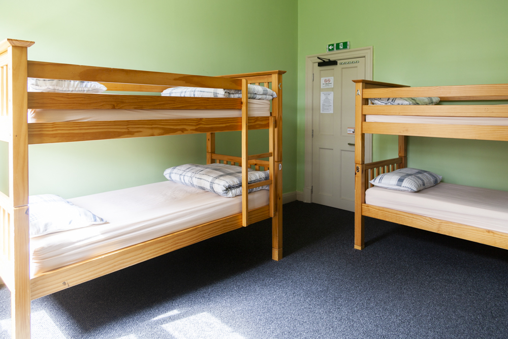 six bed mixed dorm - 6 bed mixed dorm with or without ensuite bathroom.
