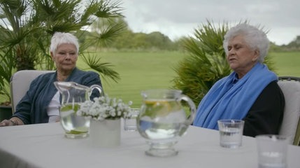 Dame Judi Dench and Dame Joan Plowright