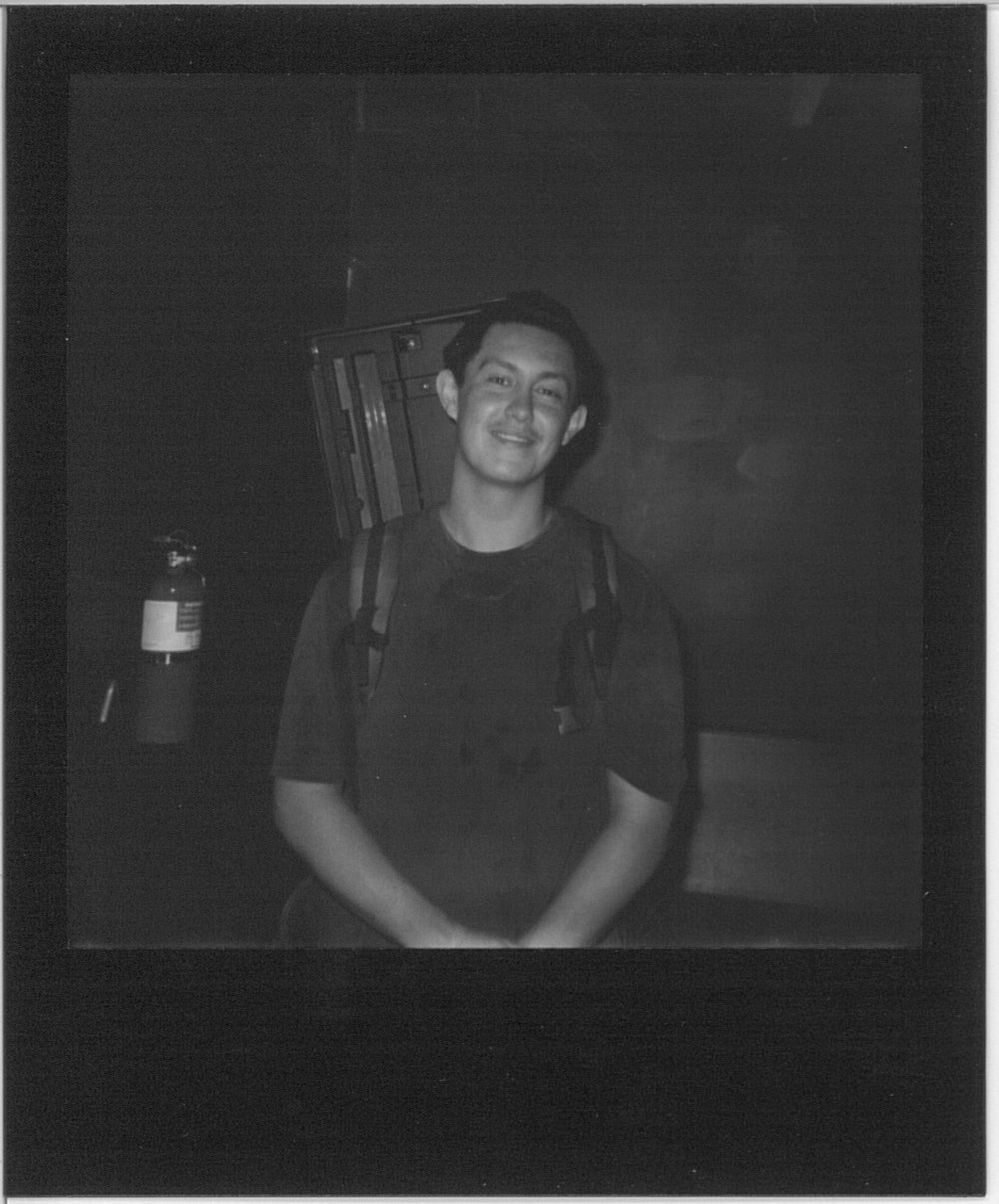 Hobo Johnson, polaroid by Adam Murphy @ nonecktie.tumblr.com