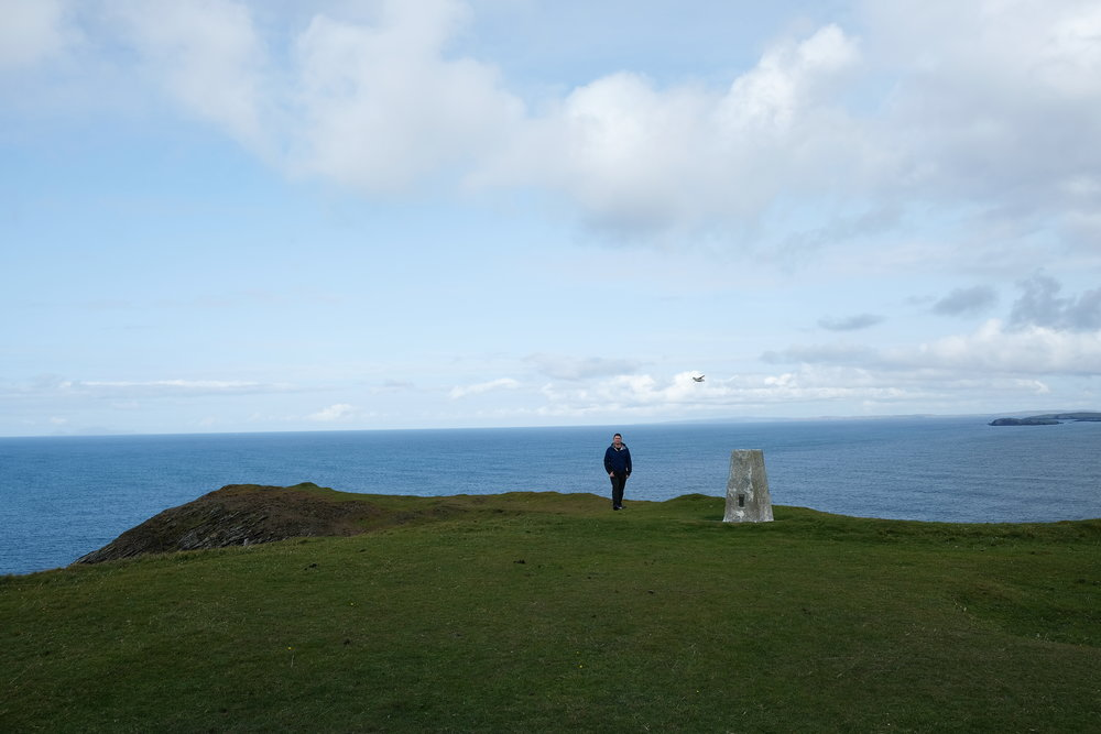 Ordnance Trig Pillar with Husband for Scale