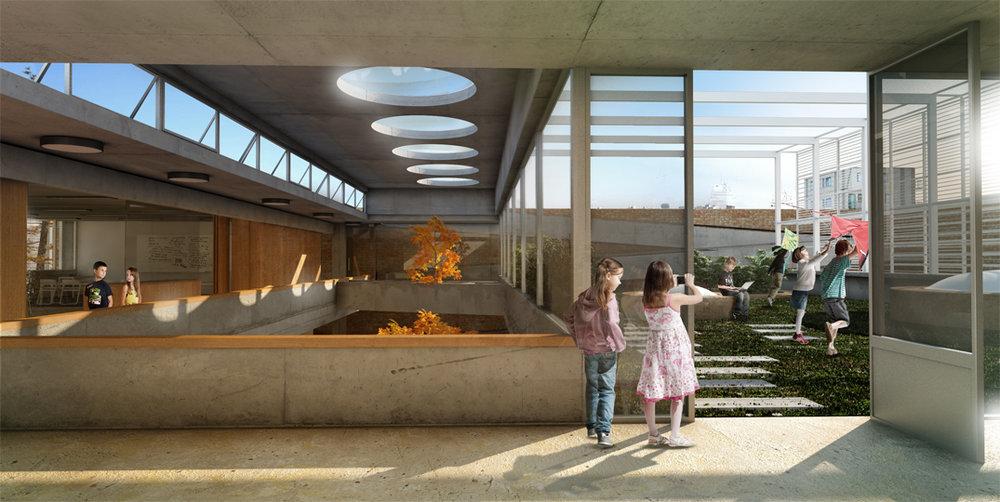 """Proyecto ganador del 2do premio del concurso """"Hacia una nueva arquitectura escolar"""", junto al estudio Alonso+Cripa."""