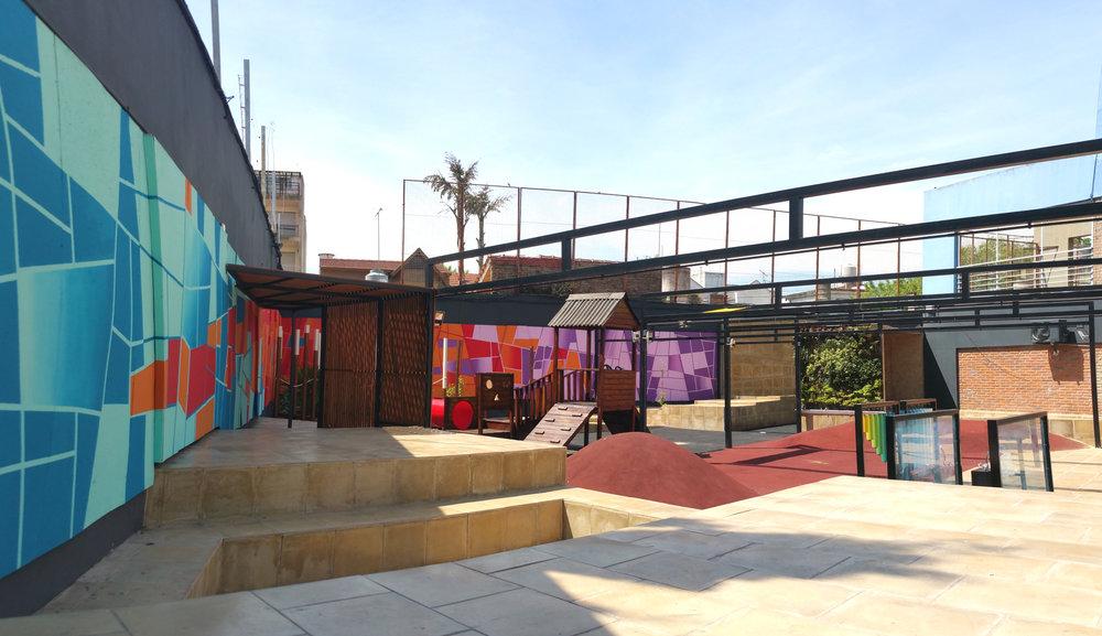 Diseño de patio de juegos para  colegio BAMI-Marc Chagall