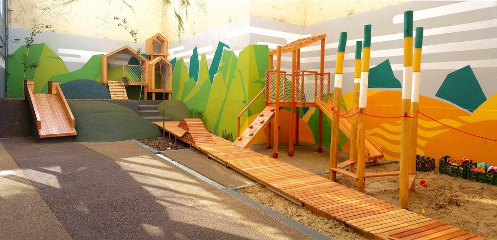 Diseño de patio de juegos para Colegio Wolfsohn