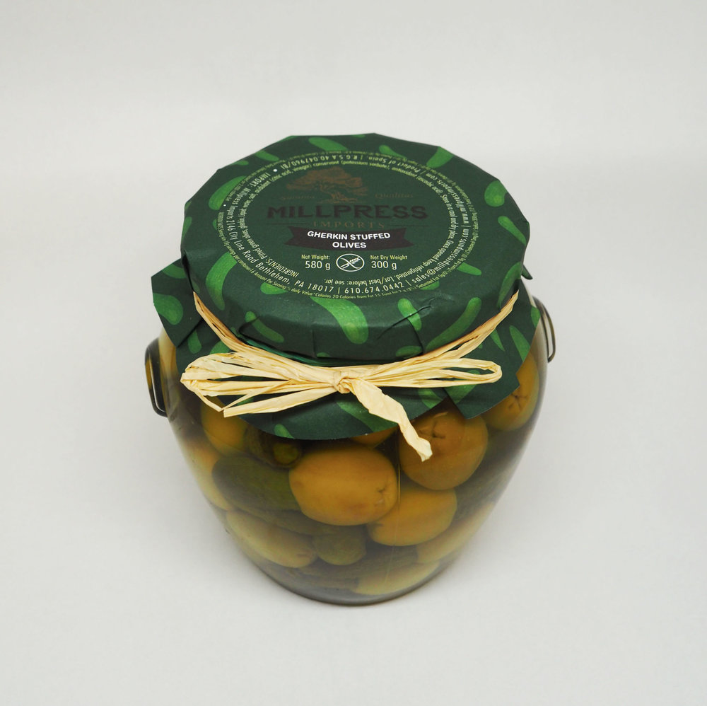 Gherkin Stuffed Olives  - Product Of Spain