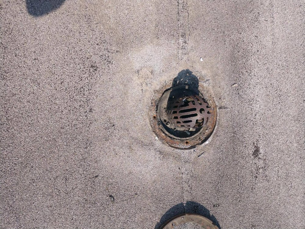 The existing drain.