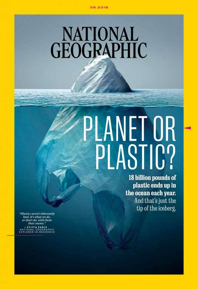 Cover of the June issue of National Geographic Magazine.