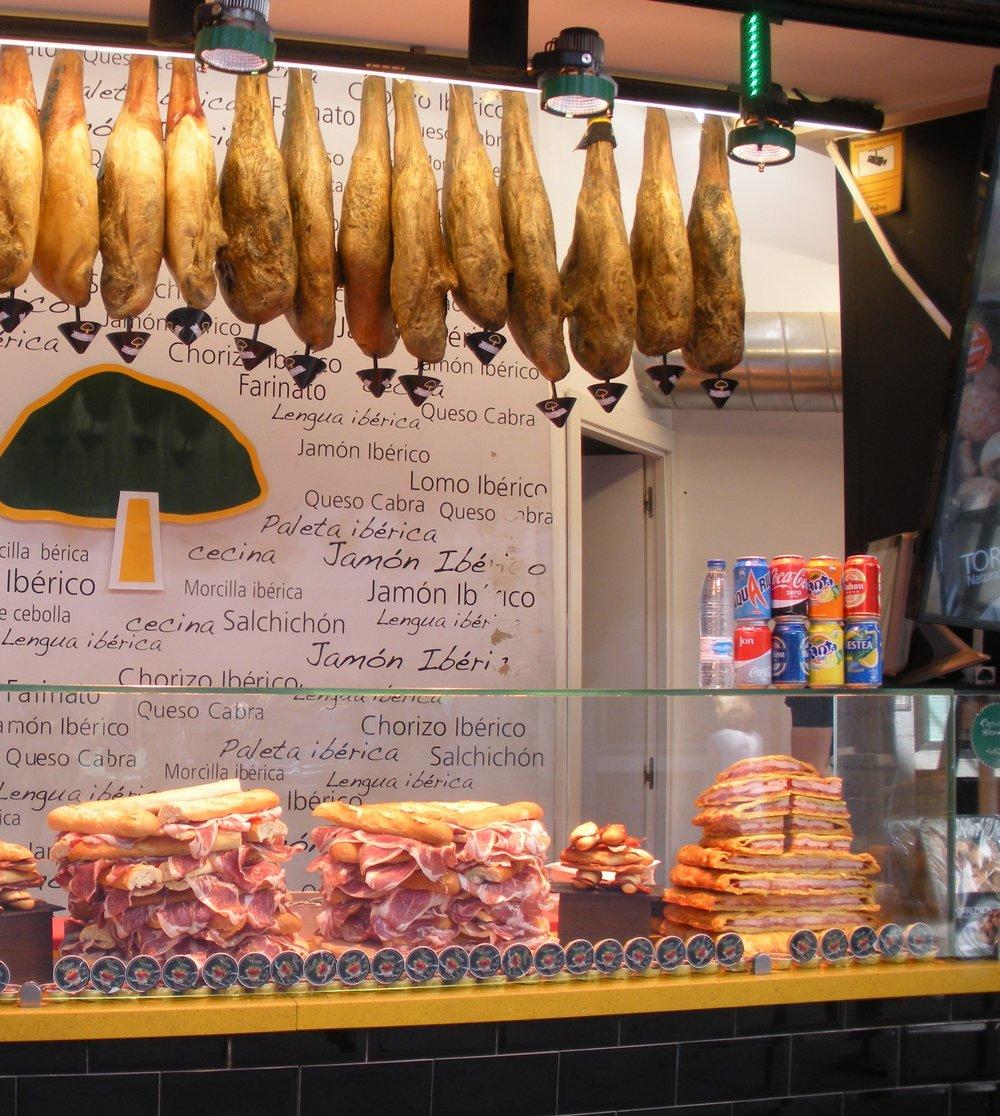 Cured Ham, Madrid, Spain