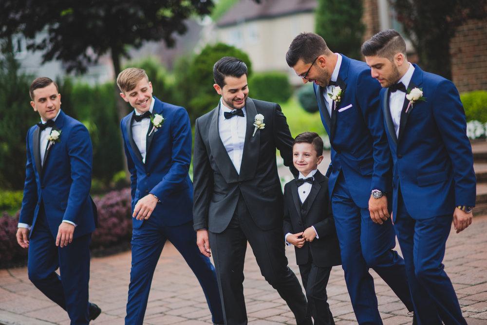Marié et ses garçons d'honneur