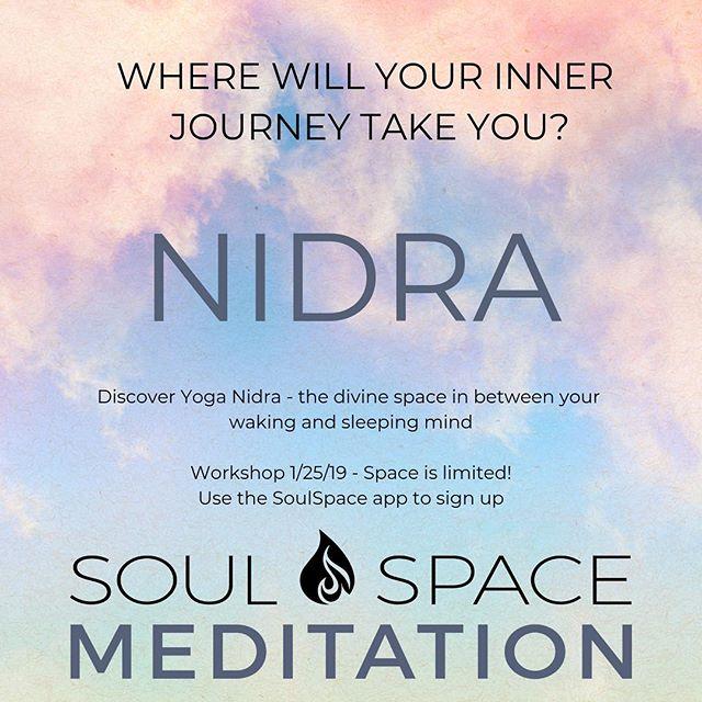 1/25 7:30pm https://www.wellnessliving.com/rs/event/soulspace_meditation_wellbeing?k_class_tab=13525&uid=0&id_class_tab=2