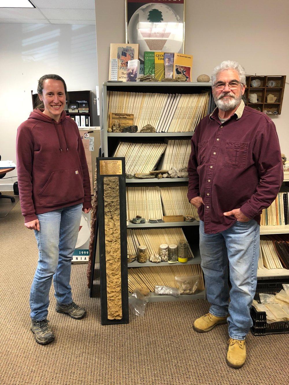 Annie Rossi and Jim Brewer, NRCS Soil Scientists