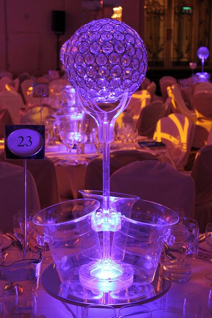 Triple Ice Bucket with Crystal Globe Top