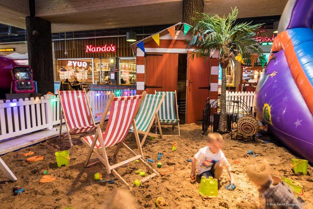 Beach Chairs in Braehead Shopping Centre