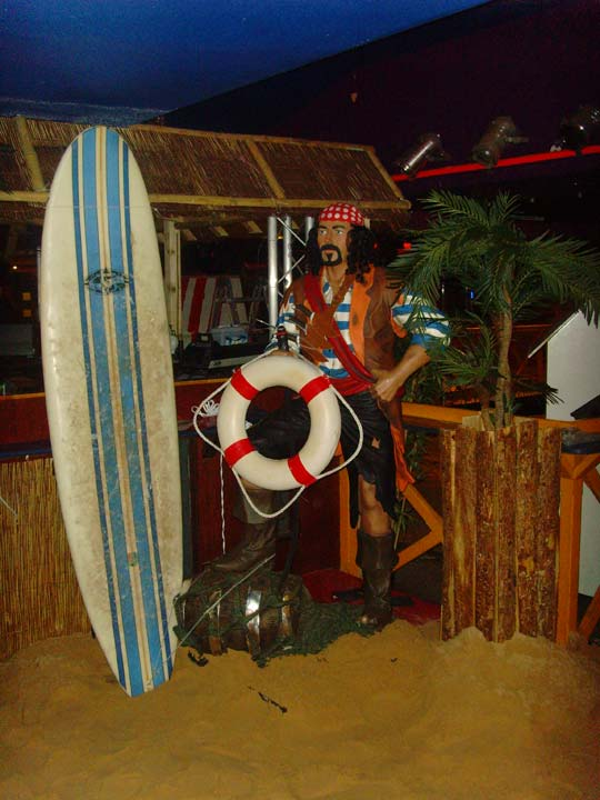 Surf Board and Pirate