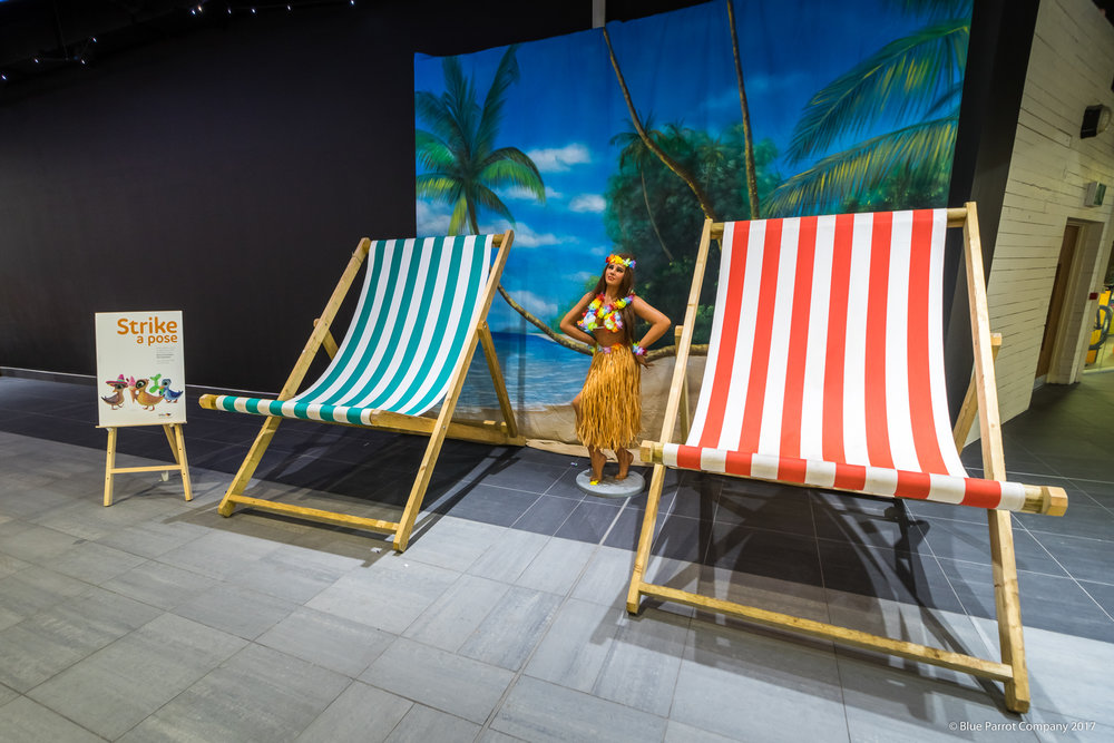 Giant Deck Chairs at Soar Braehead