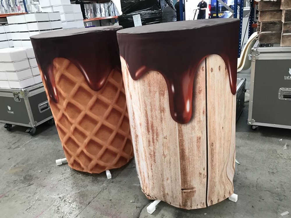 Chocolate Drip Poseur tables