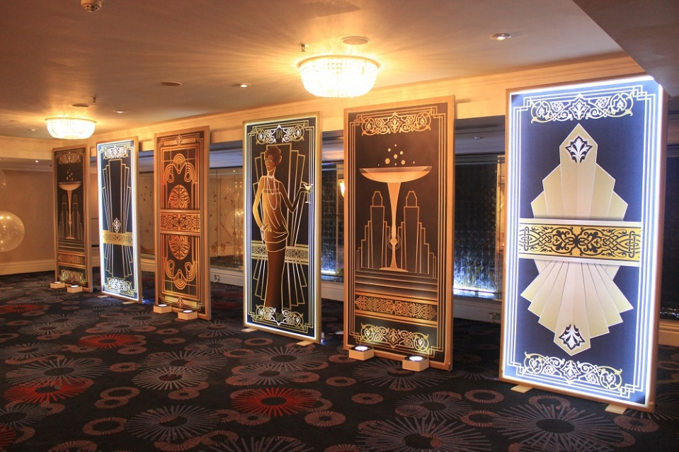 Gatsby themed light panels