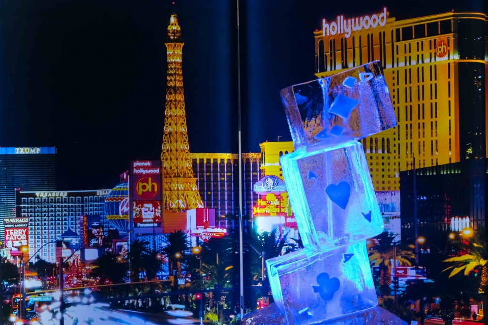 Vegas themed light panels