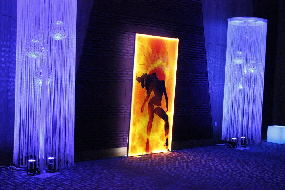 Secret agent themed light panels