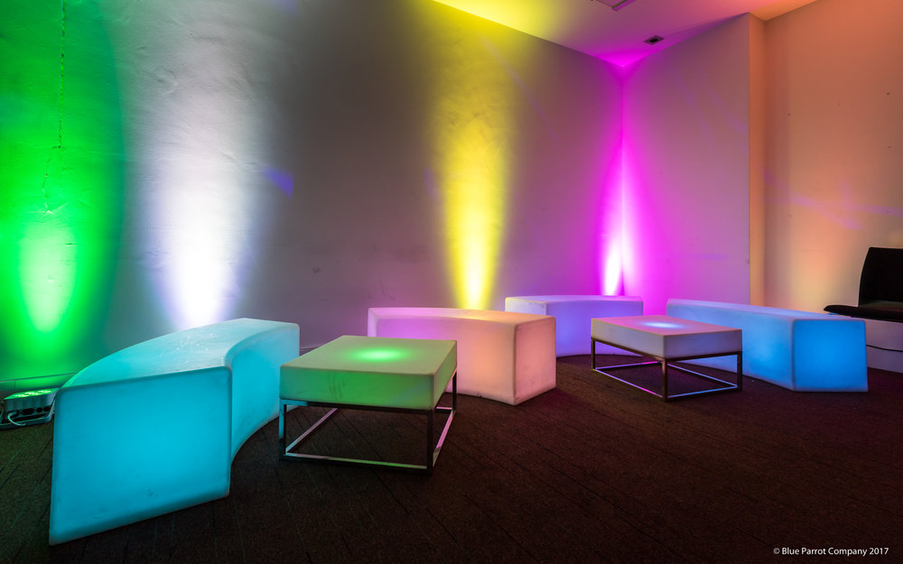 LED chairs and tables