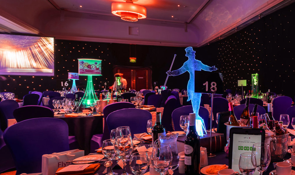 Circus table centres at Doubletree by Hilton Glasgow
