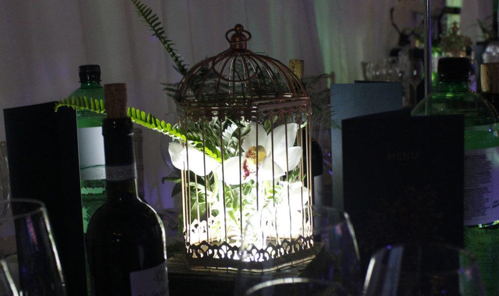 Birdcage table centerpieces