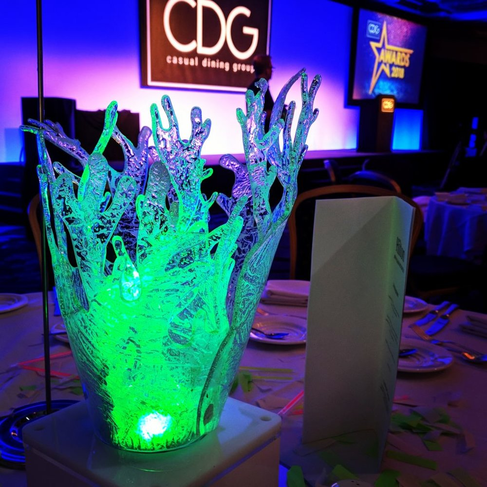 Coral Table Centres