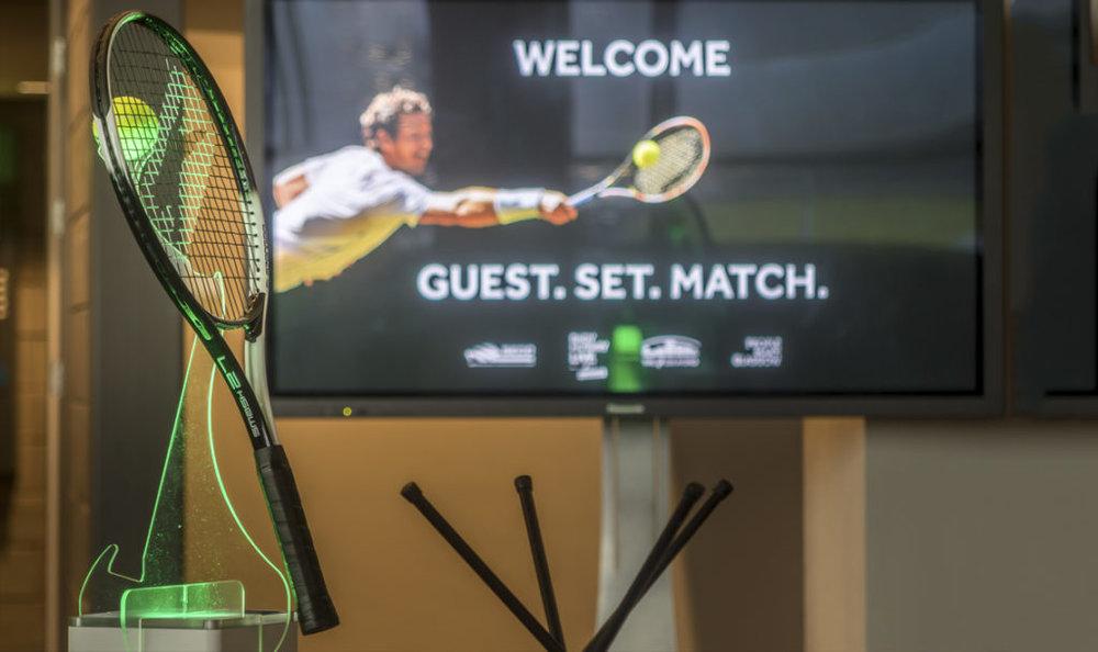 Tennis Racket Table Centres