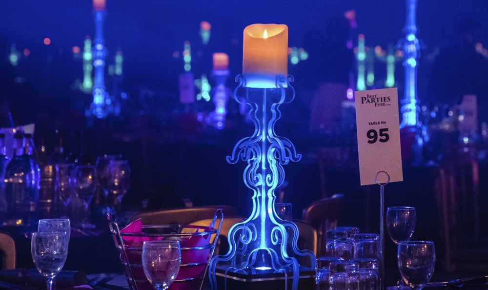 Low Candlestick Table Centres