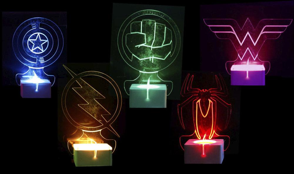 Superhero Collection Table Centres
