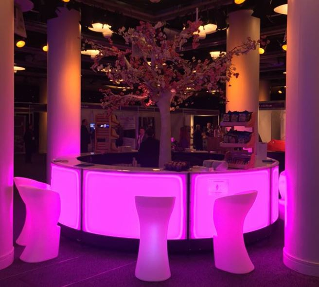LED Circular Bar and LED Bar Stools