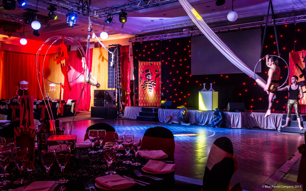 Circus theming at Crowne Plaza Glasgow