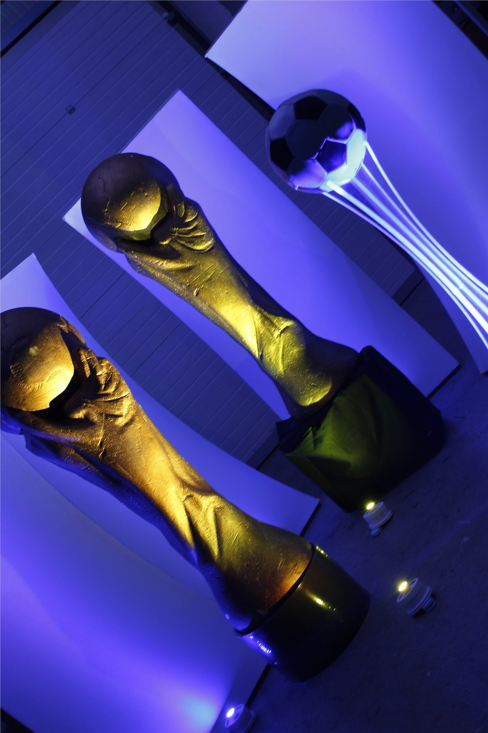 World Cup Statues and Football Table Centre