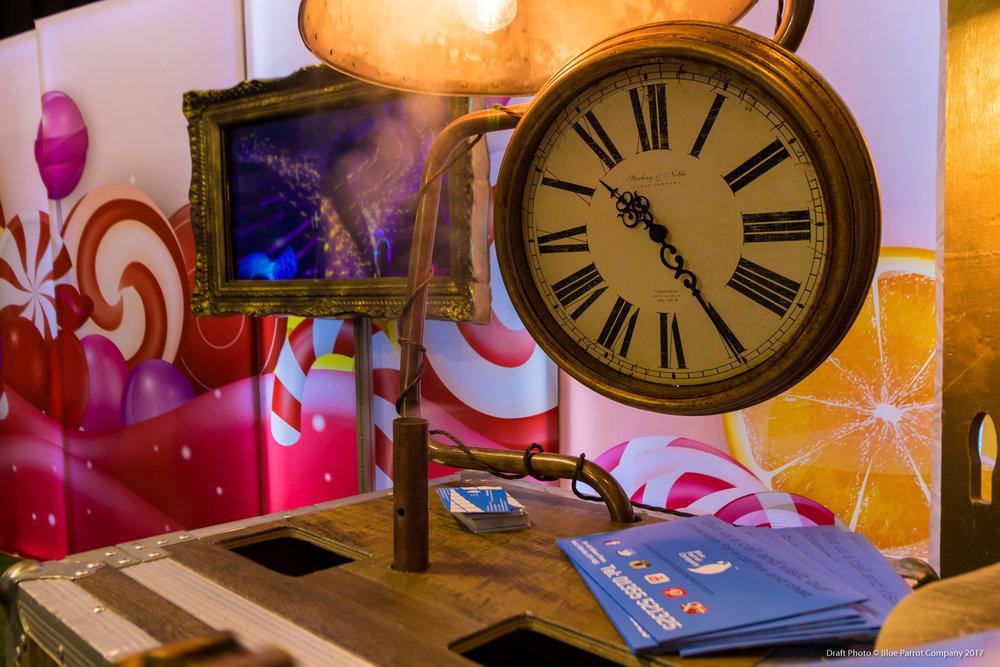 Steampunk Clock and Steam