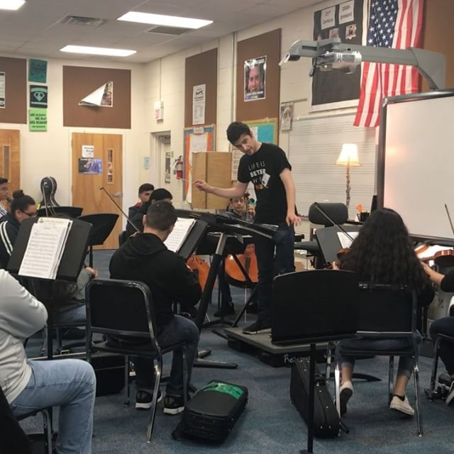 Jacob Joyce from the @ftworthsymphony working with our students before UIL. Such an amazing experience for our students!