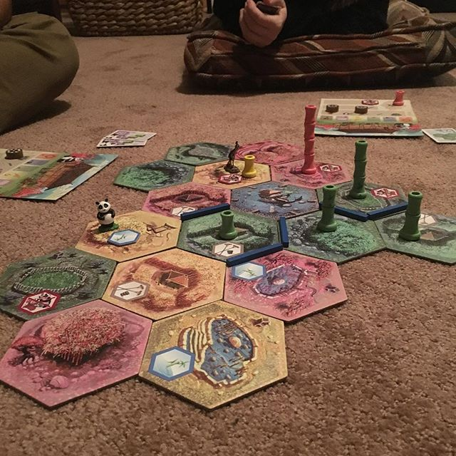 In Brevard, NC rehearsing for our upcoming tour at the end of the month! Tonight's board game is Takenoko! #chambermusic #boardgames #quartet #bonding