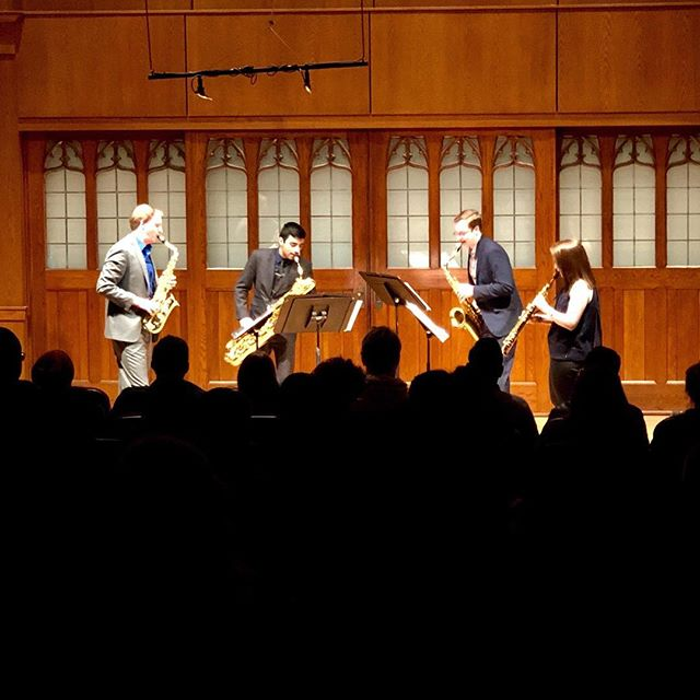 The Florida leg of our tour has come to a close, and we are now heading up to Georgia for a recital tonight at UGA and a recital/Masterclass at GSU tomorrow morning! Thank you so much to Virginia Koepkey at St. John's Episcopal Church, Dr. Geoff Deibel at FSU, and Dr. Michael Bovenzi at UNF for having us out! It was great to perform for your communities and work with some very talented saxophonists! ————— . . . . . #saxophone #quartet #chambermusic #tour #2019 #florida #ormondbeach #fsu #tallahassee #unf #jacksonville