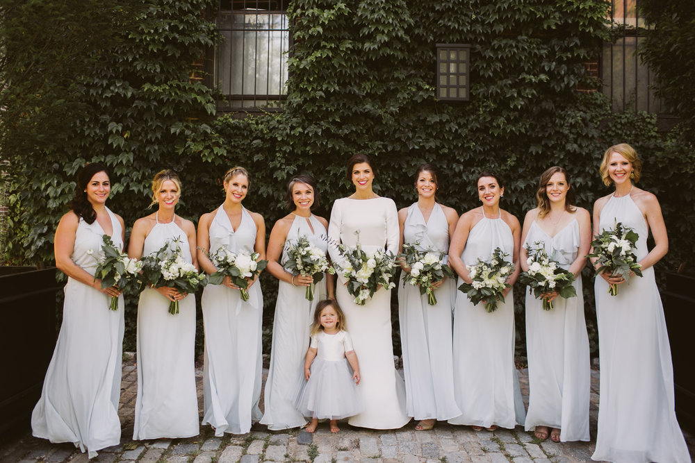 bridesmaids-wedding-gray-dresses
