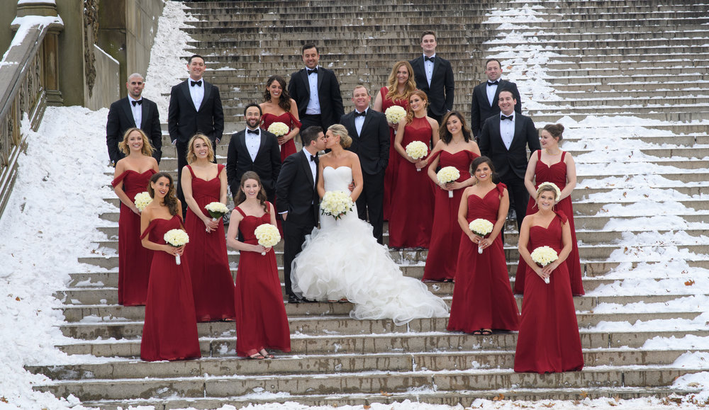 wedding-party-bridesmaids-groomsmen-christmas-red