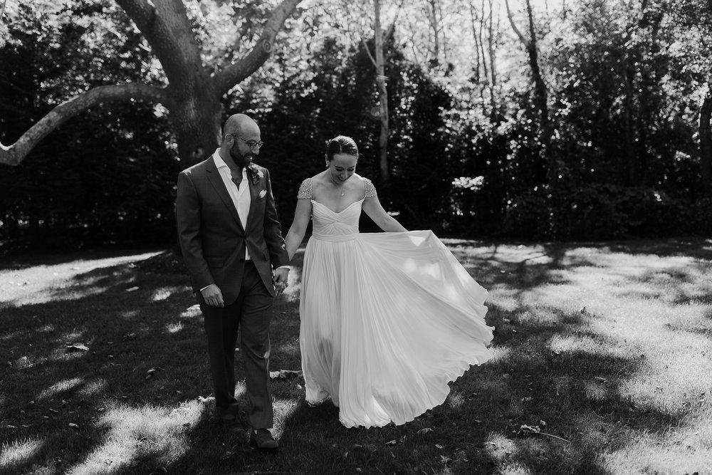 black-and-white-wedding-dress-hamptons