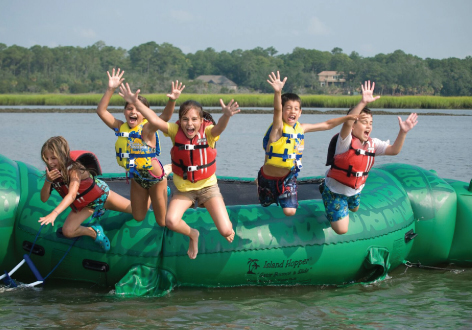 Teen Tube Excursion - One of our popular summer water activities is our Tubing Adventure. Our Outside Team takes a small group of teens and tweens (ages 13 and up) on an amazing 1.5 hour inflatable water adventure. Ages 11 and up!⚠ Activity currently unavailable.