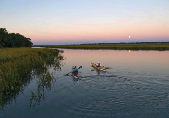 Full Moon Kayak Nature Tour - This is a beautiful and serene 2 hour nature tour, in the moonlight, along the pristine May River. No kayak experience is necessary.Price Range: $75.00 to $95.00Palmetto Bluff Members: Ask about special member pricing when calling.CALL FOR RESERVATIONS @ 800-686-6996