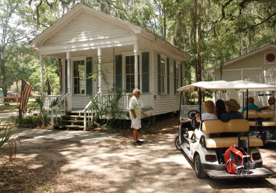 Daufuskie Island History Tour - This is a trip back in time providing a glimpse into a fascinating chapter of our Lowcountry history. Join us for a small group tour, usually limited to 6 people of the undeveloped side of Daufuskie with our interpretive guide and USCG Licensed Captain.Visit several one-of-a-kind places like the First Union African Baptist Church, the Praise house, the Mary Field's School where author Pat Conroy taught, the site of the Bloody Point Lighthouse, an artisans studio; perhaps a chance to meet some native 'Fuskie islanders. Hear about the rich history of the Native Americans, European settlers, cotton and slaves as well as the Gullah who remain and locals who have chosen to make this remote island their home. Price Range: $95.00 to $150.00Palmetto Bluff Members: Ask about special member pricing when calling.CALL FOR RESERVATIONS @ 800-686-6996