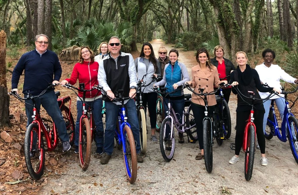 Photo Credit // Outside Brands, Recent Pedego Bike Outing for Local Group