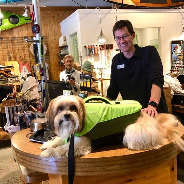 Serving all sorts of customers today. This pup will be safe on the waters.  #lifejacket #foryourdog #onthewater #outsidehiltonhead #outsidepalmettobluff #outsidesavannah #outside #getoutside