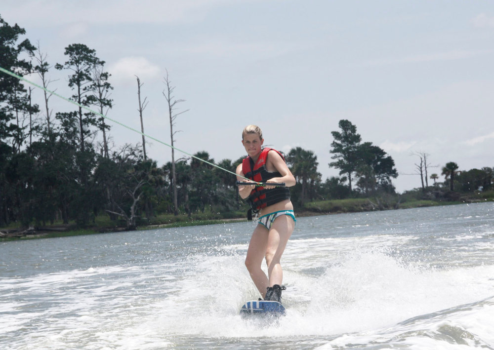 Savannah Family Ski Day - Outside's Family Ski Day is a custom, private trip for your group or family.The program begins with a scenic boat cruise to our favorite water ski grounds, a pristine and calm creek. On the way, your group will have a great chance to see dolphins and other wildlife while touring parts of Savannah from the water.Once there you can choose which sports you would like to do. Get in our 2 person tubes, which are simple to use, even for the youngest members of your family, and allow for different levels of intensity. The trips include the boat, USCG licensed Captain & Certified Towing Sports Equipment (and lessons) for tubing, water-skiing, wakeboarding and knee boarding are all included. No experience is necessary.Pricing for up to 6 people per boat:3 hours @ $3754 hours @ $4755 hours @ $575Available June-September