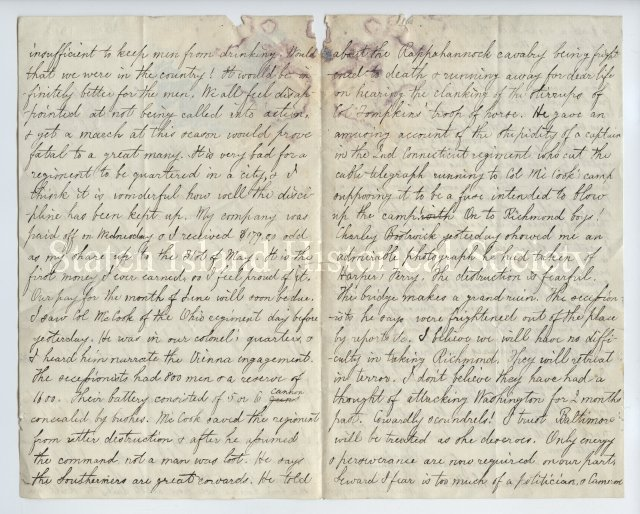 1861 Letter from Civil War